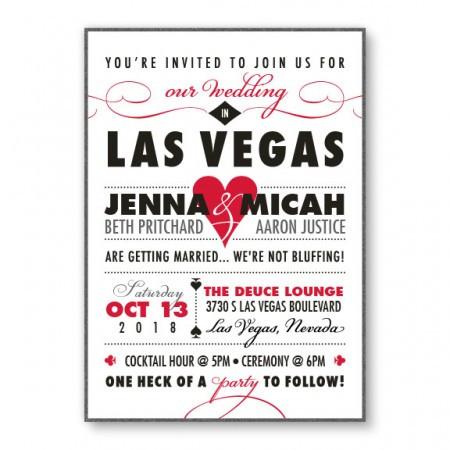 Vegas 2-Layer Classic Wedding Invitations