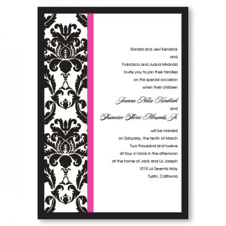 Victoria Damask Wedding Invitations