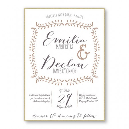 Vine 2-Layer Unique Wedding Invitations