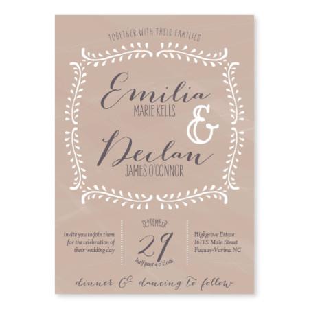 Vine Unique Wedding Invitations