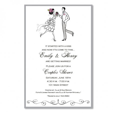 Vintage Couple Invitations