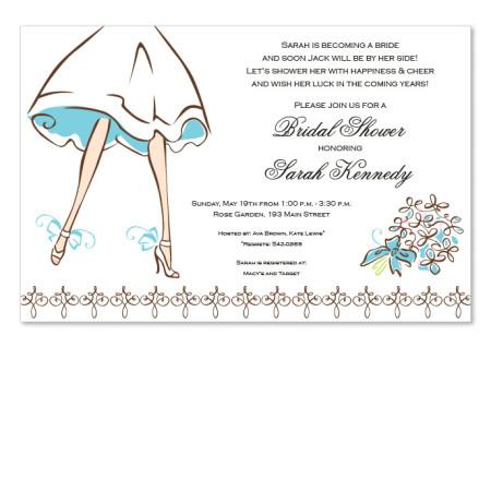 Walking Bride Invitations