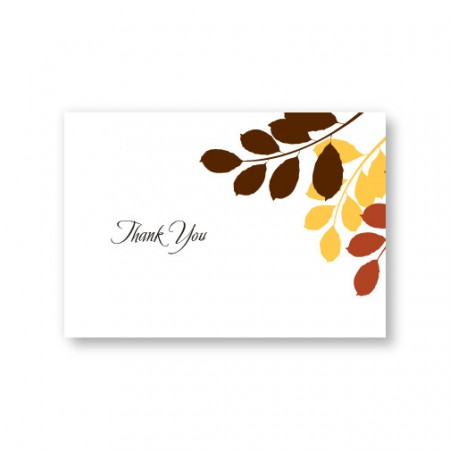 Passionate Leaves Thank You Cards