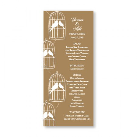 Loving Birds Menu Cards SAMPLE
