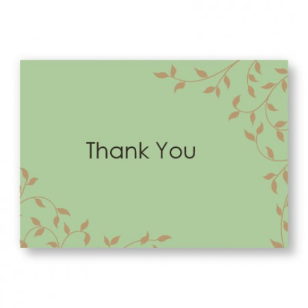 Pretty Vines Thank You Cards