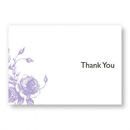 Antique Roses Thank You Cards