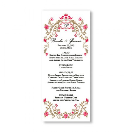 Regal Border Menu Cards SAMPLE