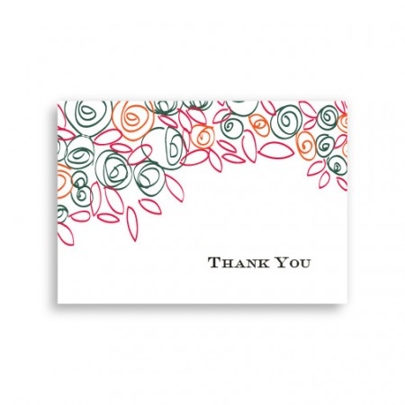 Colorful Cluster Thank You Cards
