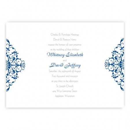 Whitney Scroll Wedding Invitations