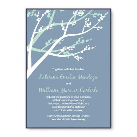 Winter Berry 2-Layer Nature Wedding Invitations