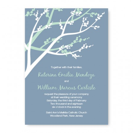 Winter Berry Nature Wedding Invitations