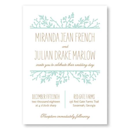 Winter Flora Wedding Invitations