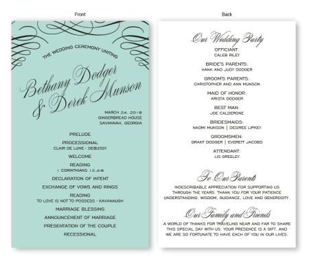 Luxe Wedding Program
