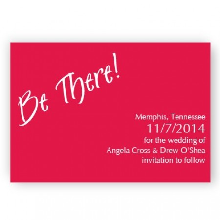 Red Be There! Save The Date Magnets