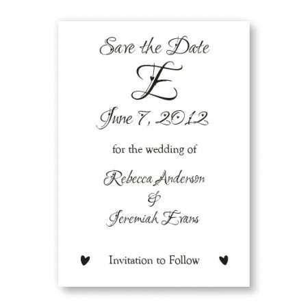 Initial Save The Date Cards