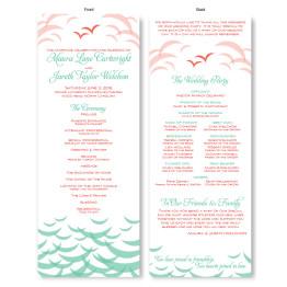 Ocean Wedding Program