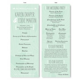 Branch & Woodgrain Wedding Program