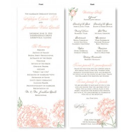 Peony Wedding Program