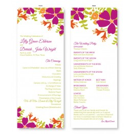 Bloom Wedding Program