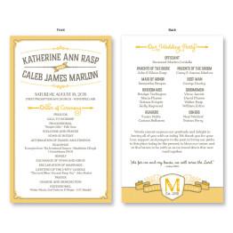 Vintage Wedding Program