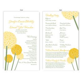 Allium Wedding Program