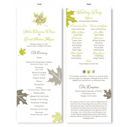Fall Leaves Wedding Program