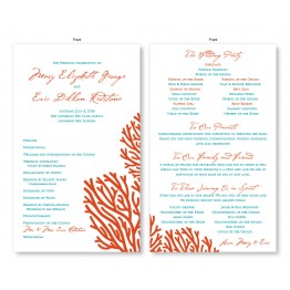 Coral Wedding Program