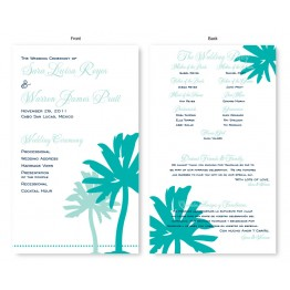 Palm Wedding Program