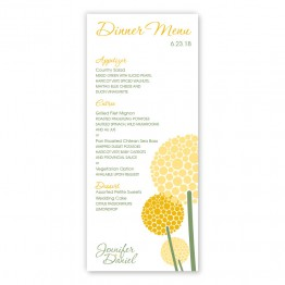 Allium Menu Cards