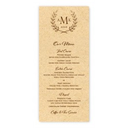 Laurel Menu Cards