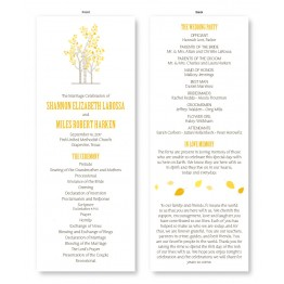Birch Wedding Program