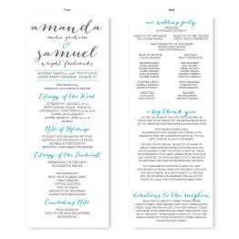 Posh Wedding Program