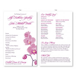 Tropical Orchid Wedding Program