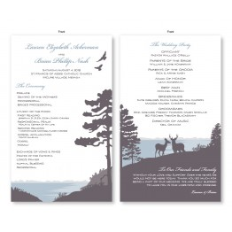 Lakeside Wedding Program