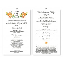 Floral Monogram Wedding Program