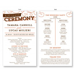 Fanfare Wedding Program