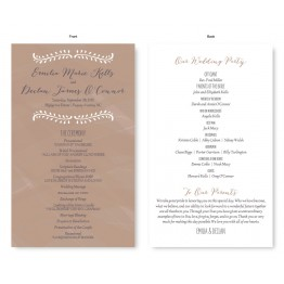 Vine Wedding Program