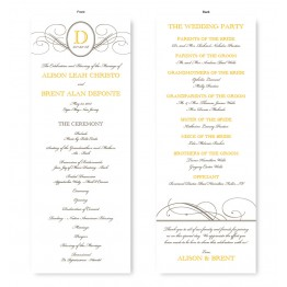 Elegance Wedding Program