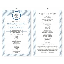 Pinstripe Wedding Program