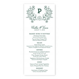 Garden Monogram Menu Cards