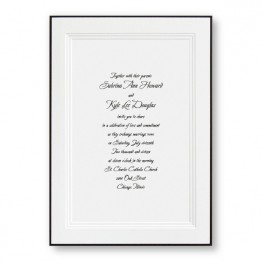 A Classic Wedding Invitations Black