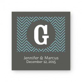 "Chevron 2 1/2"" Square Sticker"