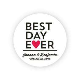 """Best Day Ever 2"""" Round Sticker"""