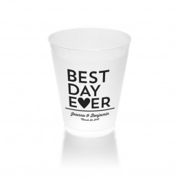 Best Day Ever Clear or Frosted Plastic Tumblers