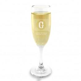 Chevron Champagne Glass