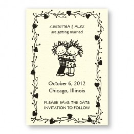 Children of the Inner Light Hugging Couple Save the Date Magnets