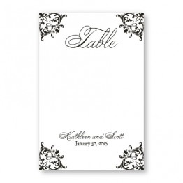 Regal Frame Table Cards
