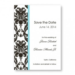 Victoria Damask Vertical Save The Date Cards