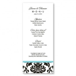 Victoria Damask Menu Cards