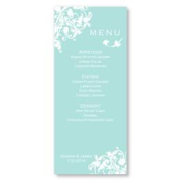 Venetian Romance Menu Cards